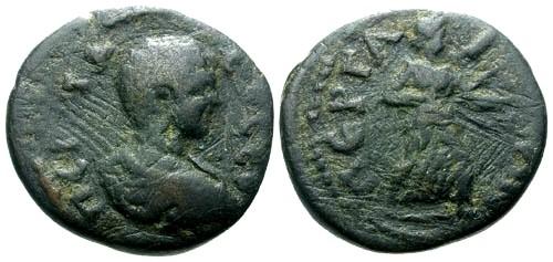 Ancient Coins - gF/gF Geta Pamphylia Perga AE19 / Artemis