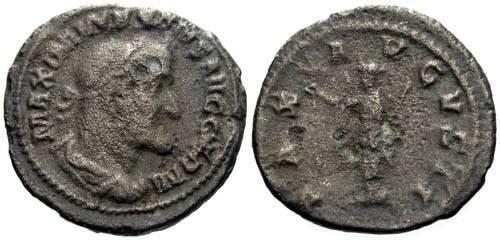 Ancient Coins - VF/F+ Maximinus I Limes Denarius