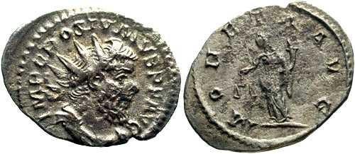 Ancient Coins - VF/VF Postumus Antoninianus / Moneta