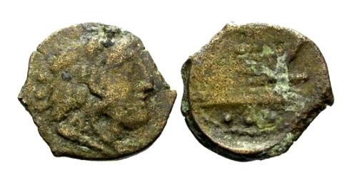 Ancient Coins - gF/F 91 BC Roman Republic Anonymous AE Quadrans