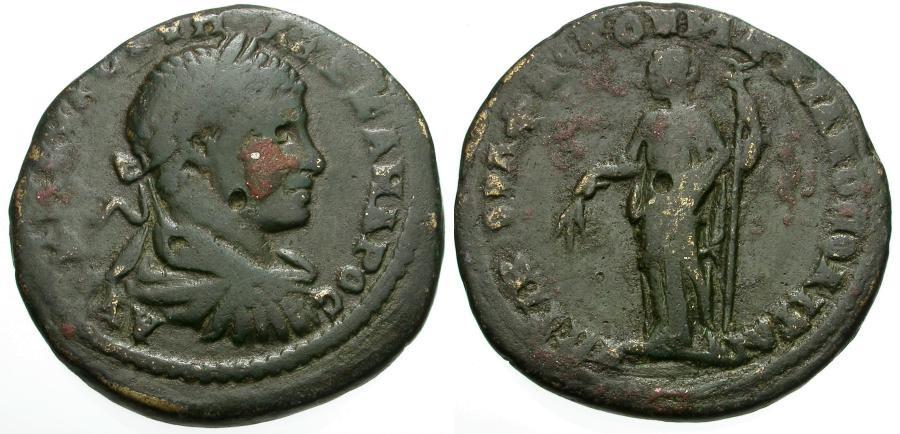 Ancient Coins - Severus Alexander.  Moesia Inferior.  Marcianopolis Æ25 / Demeter