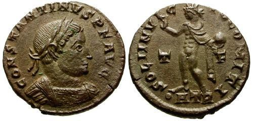 Ancient Coins - VF/EF Constantine I The Great AE3 / Soli