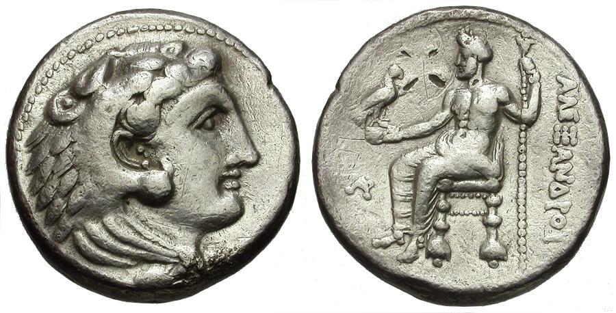 Ancient Coins - Kings of Macedon. Alexander III The Great. Byblos Mint Lifetime Issue AR Tetradrachm