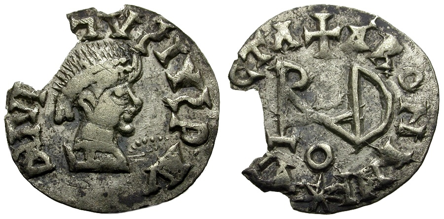World Coins - Migration Period. Germanic Tribes. Gepids AR Siliqua in the name of Justinian I? / Monogram