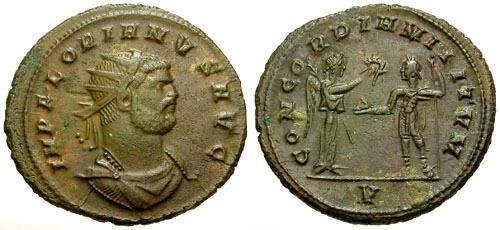 Ancient Coins - aEF/EF Florian Æ Antoninianus / Victory and Emperor