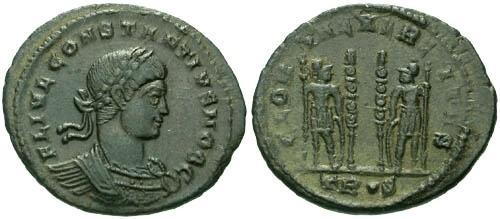 Ancient Coins - VF/VF Constantius II as Caesar AE