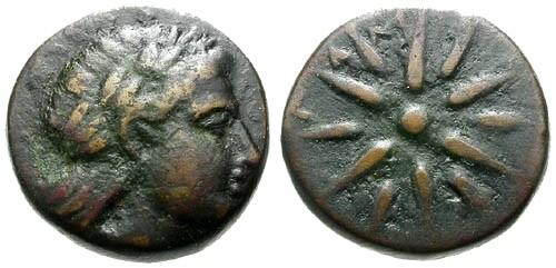 Ancient Coins - VF/aVF Mysia Gambrion AE16 / Star