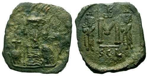 Ancient Coins - F+/VF Constantine IV Follis Syracuse mint