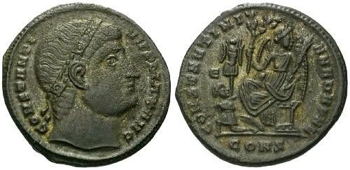 Ancient Coins - VF/VF Constantine the Great AE / Dafne Eyes to God R3