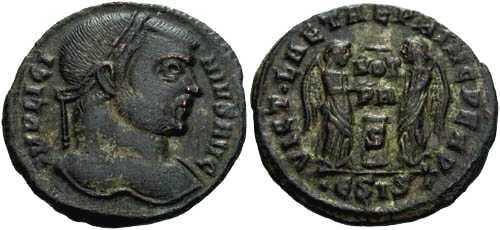Ancient Coins - gVF Licinius I  / Two Victories