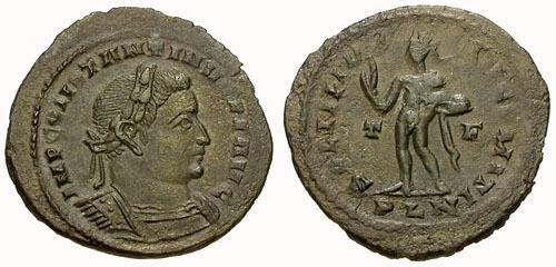 Ancient Coins - VF/VF Constantine I The Great Æ Follis / Sol