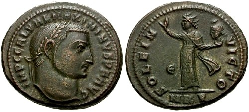 Ancient Coins - EF/EF @@Failmezger Collection@@ Maximinus II as Augustus AE Follis / Sol