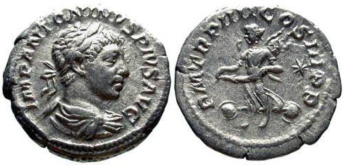Ancient Coins - VF/aVF Elagabalus AR Denarius / Victory