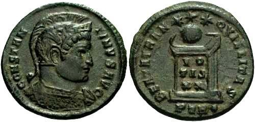 Ancient Coins - EF Constantine the Great / Altar