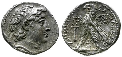 Ancient Coins - VF/VF Seleucid Kings of Syria Demetrios II Second Reign AR Tetradrachm