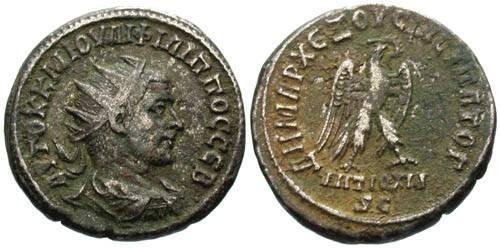 Ancient Coins - VF/VF Radiate Phillip II Provincial Tetradrachm of Syria / Eagle