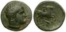 Ancient Coins - Kings of Macedon.  Philip II Æ18 / Youth on Horseback