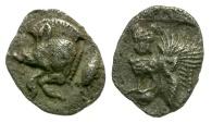 Mysia. Kyzikos AR Hemiobol / Boar and Tunny
