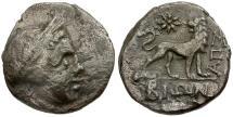Ancient Coins - Ionia. Miletos. magistrate Bion AR Hemidrachm / Lion