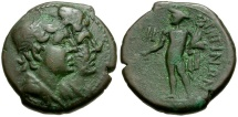 Bruttium. Rhegion Æ Reduced Triens / Hermes