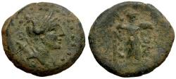 Ancient Coins - Cilicia. Soloi Æ22 / Artemis / Athena