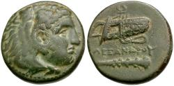Ancient Coins - Kings of Macedon. Alexander III the Great (336-323 BC) Æ17 / Bow case and Club