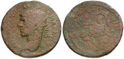 Ancient Coins - Elagabalus. Seleucis and Pieria. Antioch Æ32 / Tyche and River God