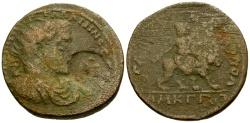 Ancient Coins - Gallienus, Cilicia Tarsos Æ33 / Cybele riding Lion