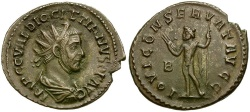 Ancient Coins - Diocletian Æ Radiate / Jupiter