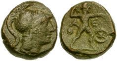 Ancient Coins - Attica. Athens Æ Obol / Zeus