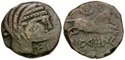Ancient Coins - Spain. Iberia. Western Herault. Neronken Æ22 / Bull