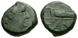 Ancient Coins - gF/gF Cimmerian Bosporus, Pantikapaion Æ11 / Apollo / Bow in case