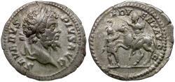 Ancient Coins - Septimius Severus (AD 193-211) AR Denarius / Emperor on Horseback