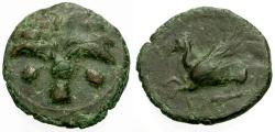 Ancient Coins - VF/VF Zeugitania, Carthage Æ16 / Palm tree / Pegasus