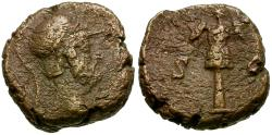 Ancient Coins - Roman Empire. Anonymous. Time of Domitian to Antoninus Pius Æ Quadrans / Trophy