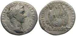Ancient Coins - Augustus (27 BC-AD 14). Restitution issue struck under Trajan (AD 98-117) AR Denarius