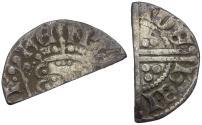 World Coins - Great Britain. Plantagenet Dynasty. Henry III (1216-1272) AR Penny. Long Cross type, class IIIa1 / Cut for Change