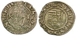 World Coins - Hungary. Ferdinand I (1526-1564) AR Denier / Madonna and Child