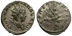 Ancient Coins - Divus Valerian II AR Antoninianus / Valerian riding Eagle