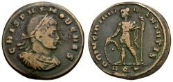 Ancient Coins - Crispus Caesar Æ3 / Mars