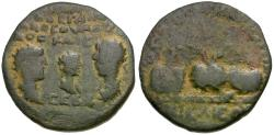 Ancient Coins - Valerian I (AD 253-260) with Valerian II and Gallienus. Bithynia. Nicaea Æ24 / Dynastic Issue