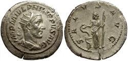 Ancient Coins - Philip I AR Antoninianus / Salus
