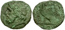 Ancient Coins - Sicily. Panormos Æ23 / Eagle