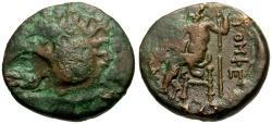Ancient Coins - Thessaly, Gomphoi-Philippopolis Æ Trichalkon / Zeus Palamnaios