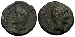Ancient Coins - Chalcis ad Libanum Æ20 / Zenodorus and Augustus