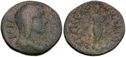 Ancient Coins - Caria. Trapezopolis. Pseudo-autonomous Æ18 / Aesclepius