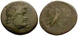 Ancient Coins - aVF/aF Crete, Knossos Magistrate Kydas Æ27 / Zeus / Eagle