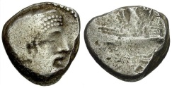 Ancient Coins - Phoenicia.  Arados AR Stater / Galley
