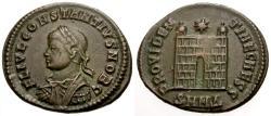 Ancient Coins - VF/VF Constantius II as Caesar Æ3 / Camp Gate