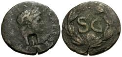 Ancient Coins - Domitian as Caesar, Syria, Seleucis and Pieria, Antioch Æ23 / Wreath